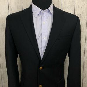 Jos. A. Bank 40R Blue Wool Gold Button Blazer